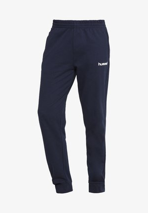 HMLGO COTTON PANT - Tracksuit bottoms - marine