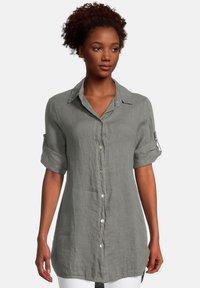 Cartoon - Button-down blouse - linen green - 0