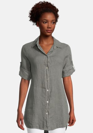 Button-down blouse - linen green