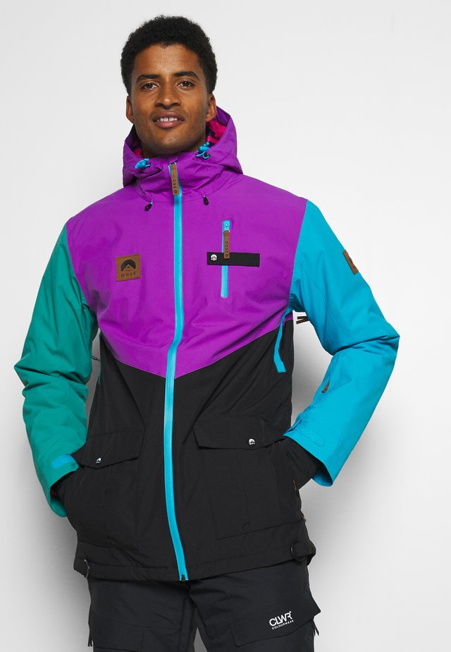 FRESH POW JACKET - Laskettelutakki - purple/black/green/blue