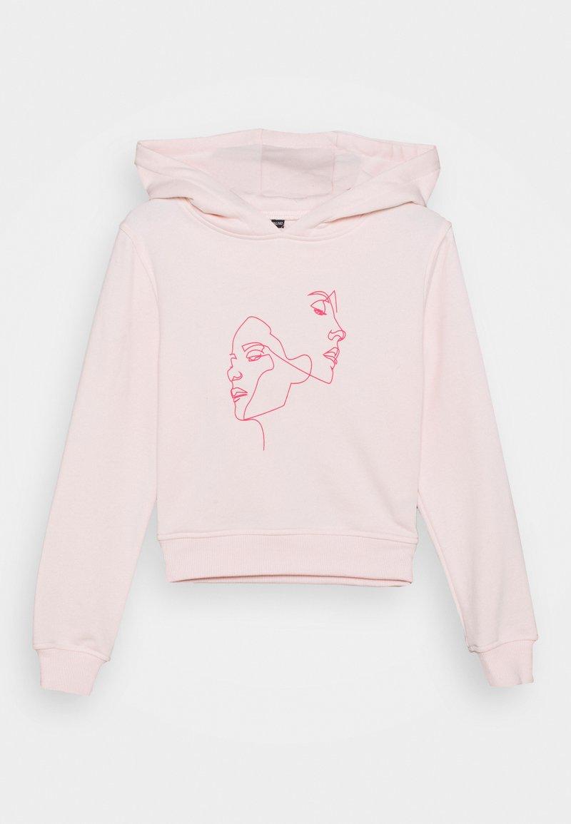 Mister Tee - KIDS ONE LINE CROPPED HOODY - Sweatshirt - pink
