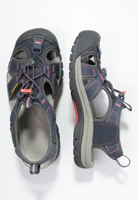 Keen - VENICE H2 - Walking sandals - midnight navy/hot coral - 1