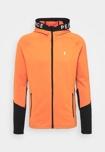RIDER ZIP HOOD - Hoodie - zeal orange