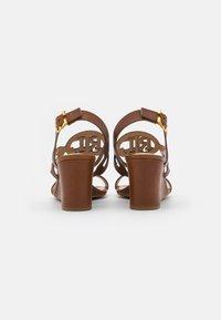 Lauren Ralph Lauren - AMILEA - Wedge sandals - deep saddle tan - 3
