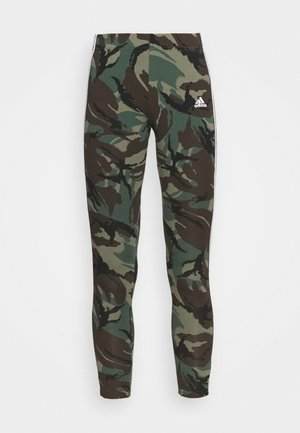 CAMO LEG - Leggings - legacy green/white