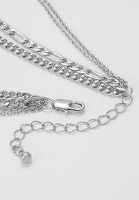 Pieces - PCOKIA COMBI NECKLACE - Necklace - silver-coloured - 3