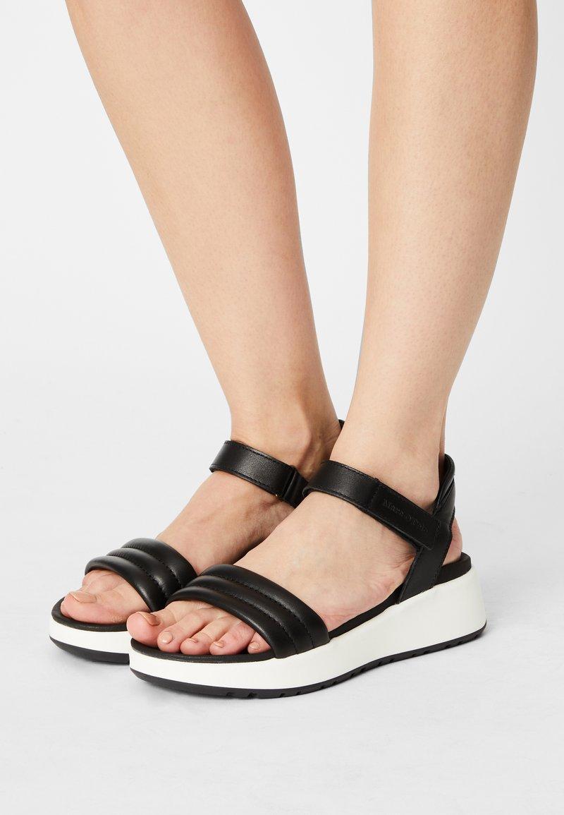 Marc O'Polo - SPORTY - Platform sandals - black