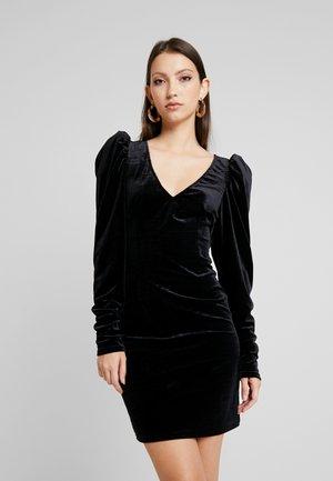 HANNA WEIG PUFF SHOULDER DRESS - Sukienka koktajlowa - black