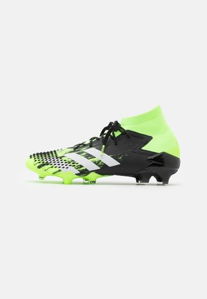 FOOTBALL FIRM GROUND - Moulded stud football boots - signal green/footwear white/clear black