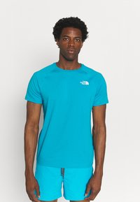 The North Face - TEE - Print T-shirt - turquoise/white - 2