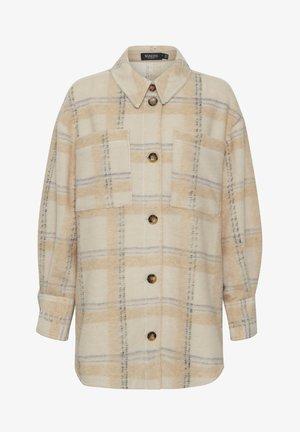 Short coat - sandshell check