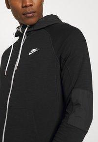 Nike Sportswear - Zip-up sweatshirt - black/ice silver/white - 4