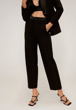 SMOKING - Pantaloni - black