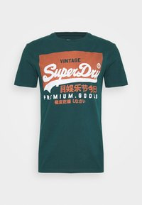 Superdry - TEE - Print T-shirt - pine green - 4