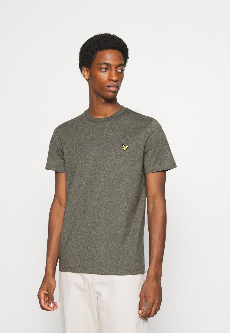Lyle & Scott - MARLED - T-shirt - bas - trek green marl