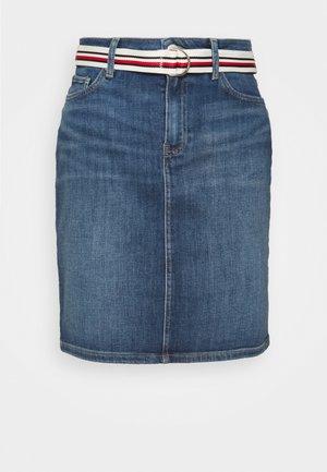 ROME STRAIGHT - Mini skirt - denim