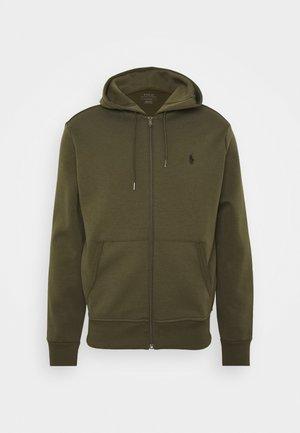 DOUBL FULL ZIP HOODIE - Sweater met rits - company olive