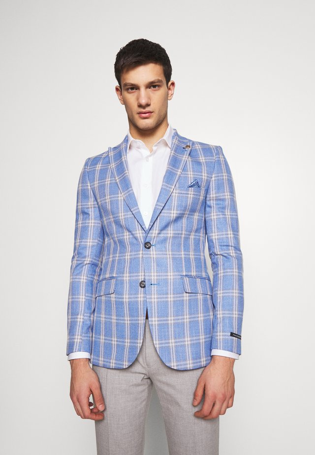 ASHER  GRID CHECK JACKET - Marynarka garniturowa - light blue