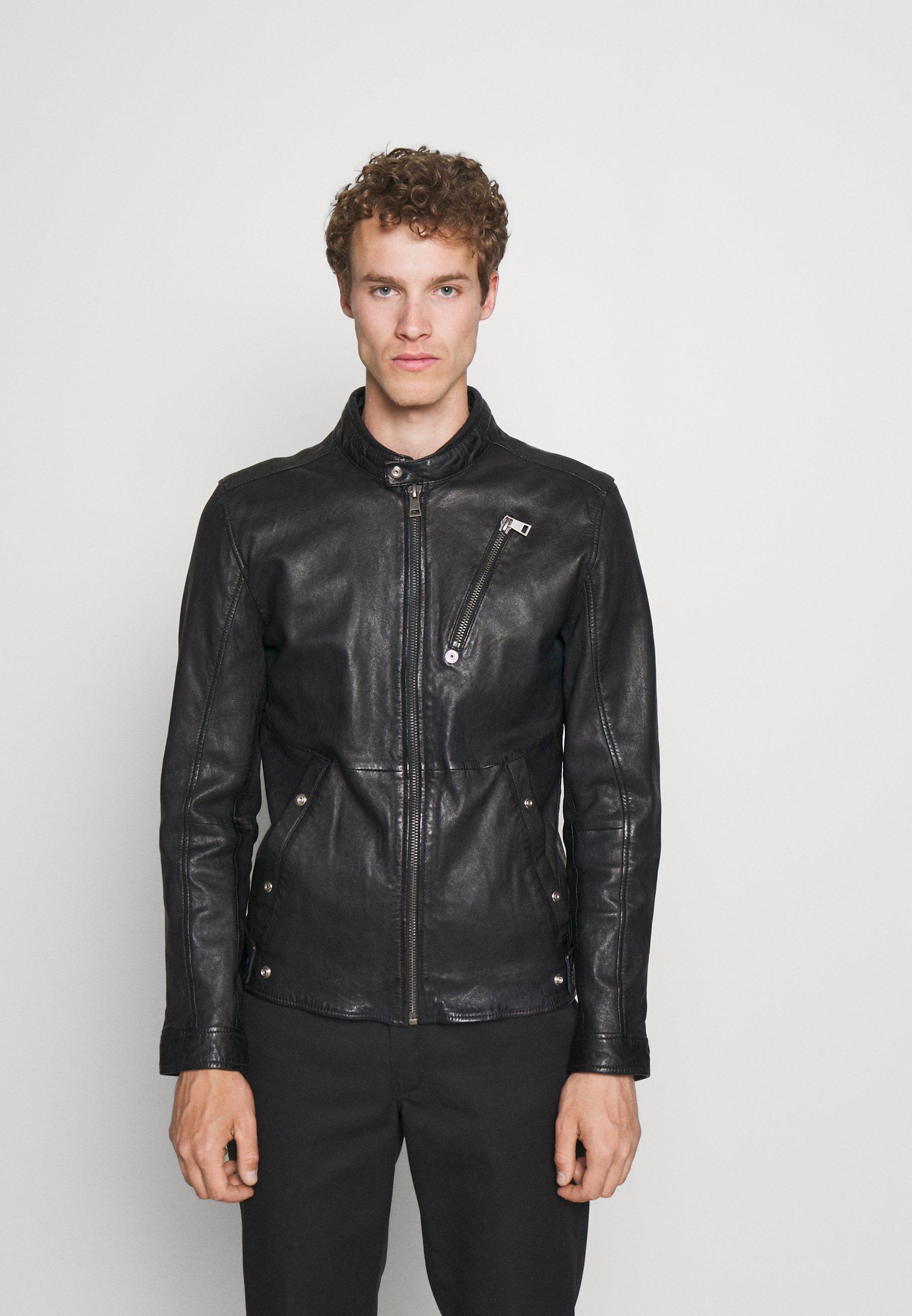 Men ASBEN - Leather jacket - black
