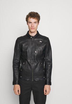 ASBEN - Leren jas - black