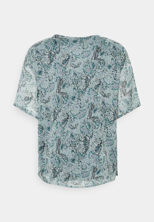 JDY JDYLINDA - T-shirt z nadrukiem - blue surf/niebieski RYND