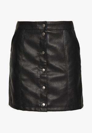 VMCONNERYRAY SHORT SKIRT - Falda acampanada - black
