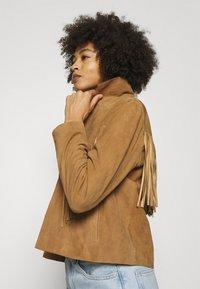 Oakwood - JANIS - Leather jacket - tan - 3