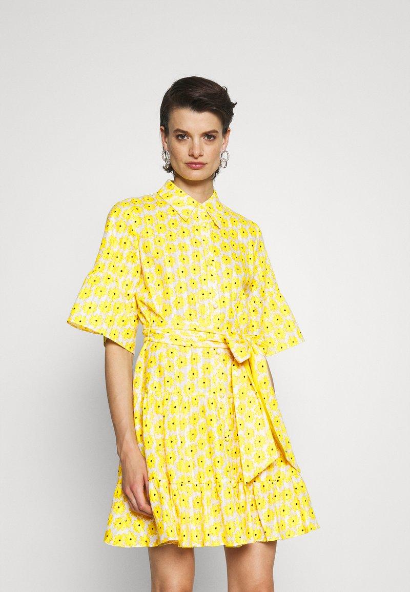 Diane von Furstenberg - BEATA DRESS - Shirt dress - sunshine yellow