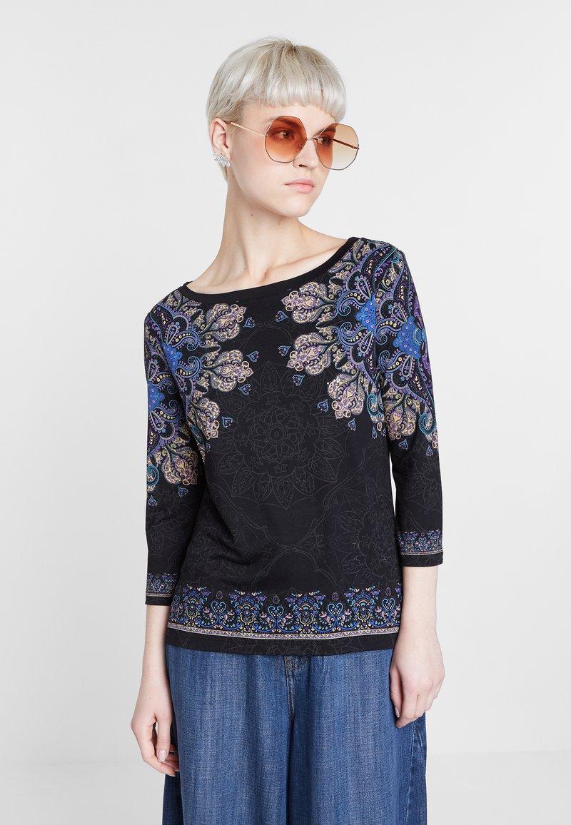 Desigual - CANNES - Bluzka z długim rękawem - black