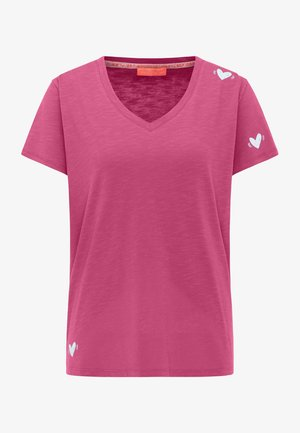 Print T-shirt - fanatic pink