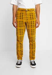 FoR - CHECK TROUSER - Tygbyxor - yellow - 0