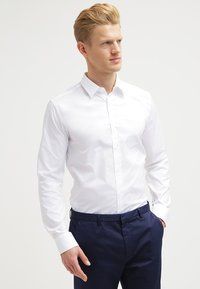 HUGO - ELISHA EXTRA SLIM FIT - Formal shirt - open white - 0