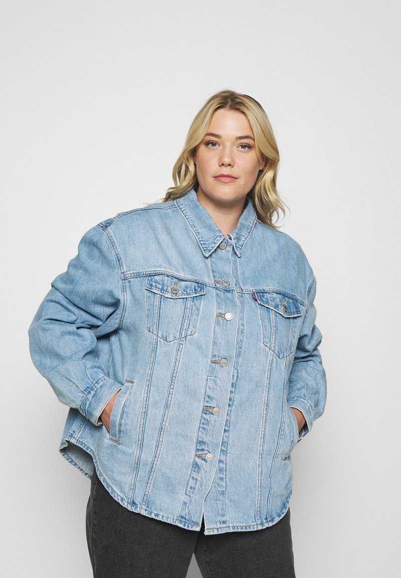 Levi's® Plus - PL SHACKET - Giacca di jeans - pull up