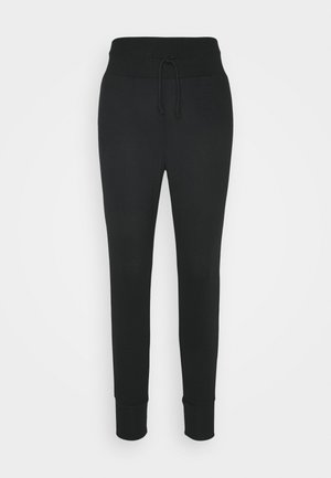 High Waist Lightweight Slim Jogger - Teplákové kalhoty - black