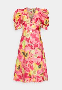 Farm Rio - PAPAYA SALAD BUTTON DOWN MIDI DRESS - Shirt dress - multi - 5