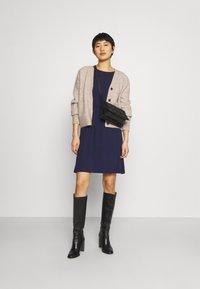 Anna Field - Mini waisted basic dress - Jersey dress - dark blue - 1