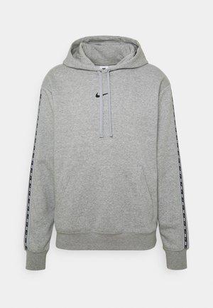 REPEAT HOODIE - Sweatshirt - dk grey heather/black