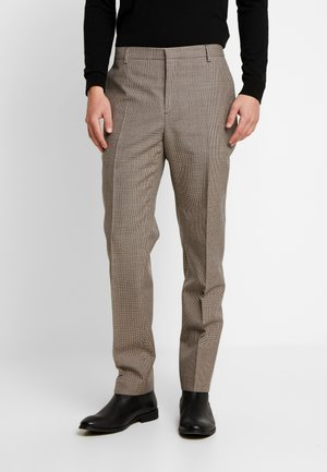 HOUNDSTOOTH EXTRAFINE - Suit trousers - grey