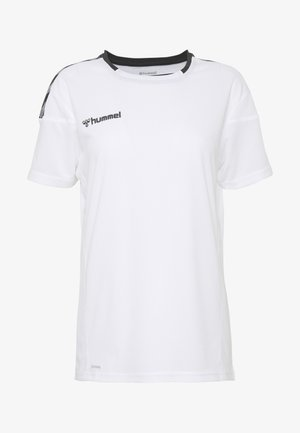 HMLAUTHENTIC  - T-shirt z nadrukiem - white