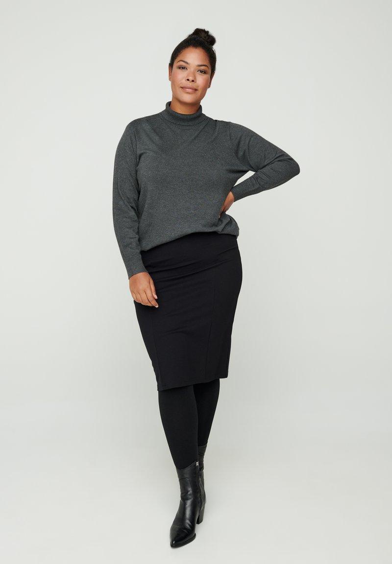 Zizzi - Pencil skirt - black