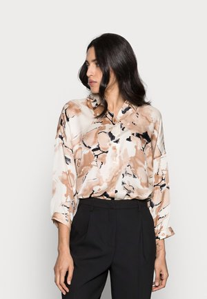 YEN SHIRT - Button-down blouse - beige