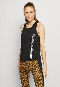 Superdry - TRAINING ESSENTIAL VEST - Camiseta de deporte - black - 0