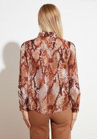 Trendyol - Button-down blouse - brown - 1