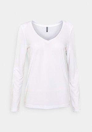 PCKAMALA - Long sleeved top - bright white
