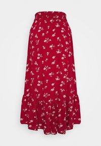 Hollister Co. - TRIFECTA MIDI - A-line skirt - red floral - 1