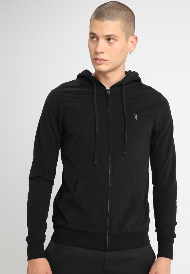 BRACE HOODY - veste en sweat zippée - black