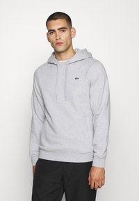 Lacoste Sport - CLASSIC HOODIE - Hoodie - silver chine/elephant grey - 0