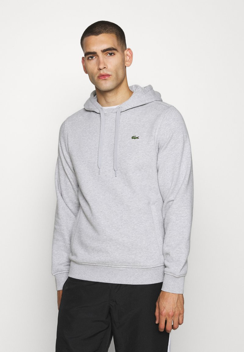 Lacoste Sport - CLASSIC HOODIE - Hoodie - silver chine/elephant grey