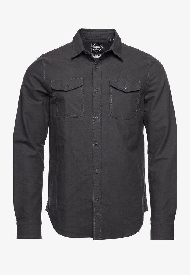 Shirt - dark marl moleskin