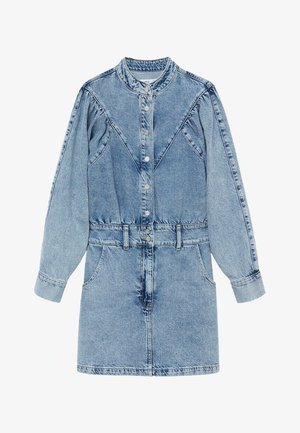 LOLA - Denim dress - halvblå